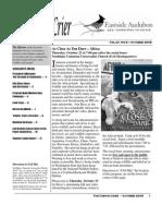 Oct 2008 Corvid Crier Newsletter Eastside Audubon Society