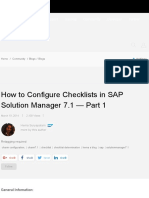 How to Configure Checklists in SAP Solution Manager 7.1
