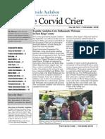 Nov 2009 Corvid Crier Newsletter Eastside Audubon Society
