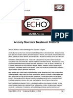 Anxiety Disorders Treatment Protocol