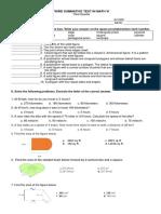 Third Summative Test in Math Vi- q3