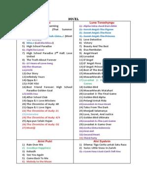 download novel permainan maut lexie xu pdf