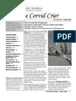 Apr 2009 Corvid Crier Newsletter Eastside Audubon Society