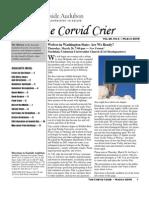 Mar 2009 Corvid Crier Newsletter Eastside Audubon Society