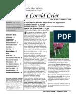 Feb 2009 Corvid Crier Newsletter Eastside Audubon Society