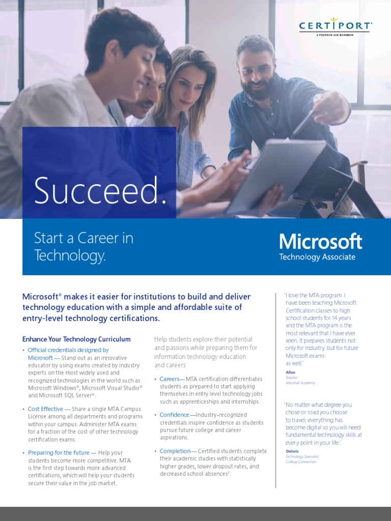 Mta Datasheet 2018 Application Software Microsoft