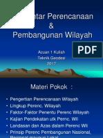 Acuan 1- Pengantar Perenc Wil-2017