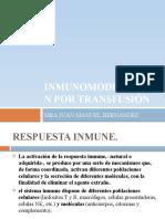 Inmunomodulación por Transfusión