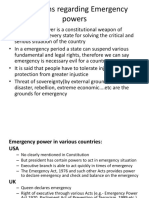Provisions Regarding Emergency Powers