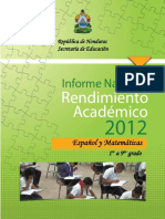 MIDEH Informe Rendimiento Academico 2012