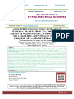 A DESCRIPTIVE CROSS-SECTIONAL RESEARCH ON HOMICIDAL DEATH PATTERN ON AUTOPSY IN THE SETTING OF PAKISTAN SPECIALLY CONCERNED WITH THE ILLEGAL FIRE-ARM POSSESSION AND THEIR FREQUENT USE CAUSING HOMICIDAL DEATHS