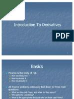 Topic 1 Intro to Derivatives