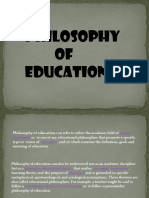 Philosophy of Education - Gorby
