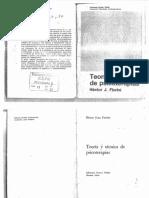 FIORINI (1974). Introducción y Cap. 2, 5, 6 y 10, En Teoría y Técnica de Psicoterapias -