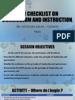 SBM CHECKLIST on Curriculum and Instruction