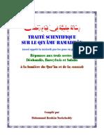 Traité Scientifique Sur Le Qiyâmu Ramadwân