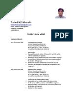 Frederick Mercado CV