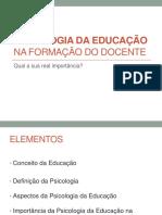 Contribuição Da Disciplina Psicologia Da Educação