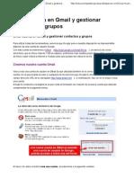 Crear Cuenta en Gmail y Gestionar Contactos y Grupos