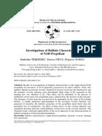 Investigations of Ballistic Characteristics of N340 Propellant