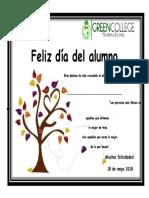 Diploma Listo Dia Del Alumno