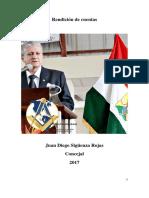 Rendición de Cuentas Concejal Juan Diego Siguenza Rojas 2017
