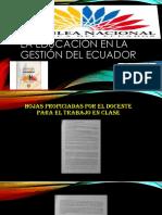 La Educación en La Gestión Del Ecuador