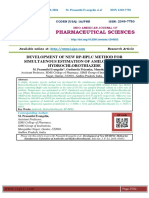DEVELOPMENT OF NEW RP-HPLC METHOD FOR SIMULTAENOUS ESTIMATION OF AMILORIDE AND HYDROCHLOROTHIAZIDE