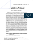 The Evolution of Psychiatry and Mental Health in the Philippines