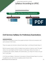 Civil Services Syllabus According to UPSC - Exams League