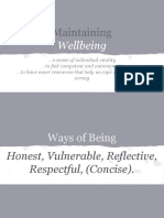 Maintaining Wellbeing - Slides