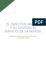 El Director y Su Gestión Al Servicio de La Misión