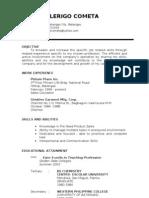 Resume of Mhami