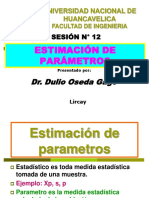 SESION N° 12 - ESTIMACION DE PARAMETROS