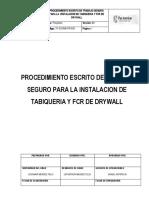 TF-SSOMA-PR-030 Procedimiento Para Instalación de Tabiqueria y FCR de Drywall