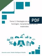 Patologías en Estructuras de Hormigón. Caracterización de Los Materiales