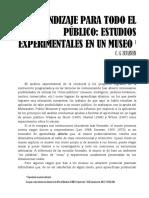 Estudios Experimentales en Un Museo