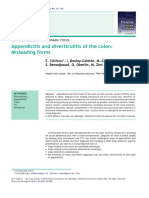 Appendicitis and Diverticulitis of the Colon- Misleading Forms