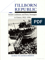 78342922 Stillborn Republic Social Coalitions and Party Strategies in Greece 1922 1936