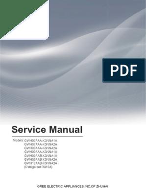 Service Manual BORA 7-12K | Hvac | Air Conditioning