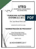 Proyecto Administración de Procesos