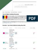 Romania Top 10 Webhosting Companies. Best Providers in RO