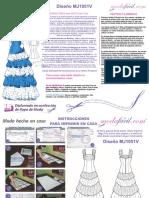 Instrucciones de Costura Vestido Flamenco MJ1051v