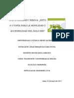 ENSAYO DE SOSTENIBILIDAD URBANA