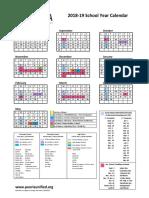 2018-19 calendar with ppd 2