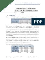 Informe Económico de Campeonato Deportivo Semana de Ingenieria Civil