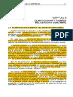 2. Doc. Clasificacion y Fuentes Del Derecho Mercantil