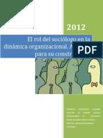 El Rol Del Sociolgo en La Dinamica Organizacional