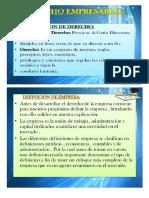 Diapositiva de Derecho Empresarial