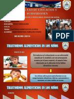 Diapositivas de Trastornos Alimenticios en Los Niños